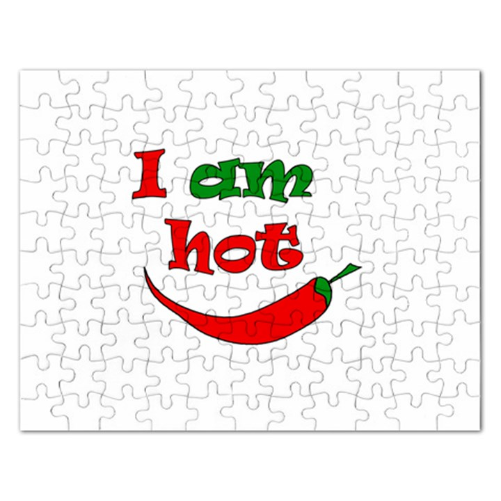 I am hot  Rectangular Jigsaw Puzzl