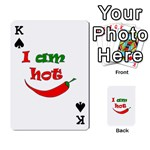 I am hot  Playing Cards 54 Designs  Front - SpadeK