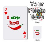I am hot  Playing Cards 54 Designs  Front - HeartJ