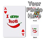 I am hot  Playing Cards 54 Designs  Front - HeartA