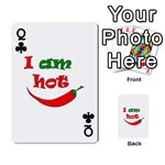 I am hot  Playing Cards 54 Designs  Front - ClubQ