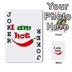 I am hot  Playing Cards 54 Designs  Front - Joker1