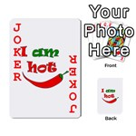 I am hot  Playing Cards 54 Designs  Front - Joker2
