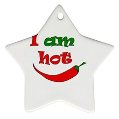I Am Hot  Star Ornament (two Sides)  by Valentinaart