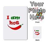 I am hot  Multi-purpose Cards (Rectangle)  Back 43