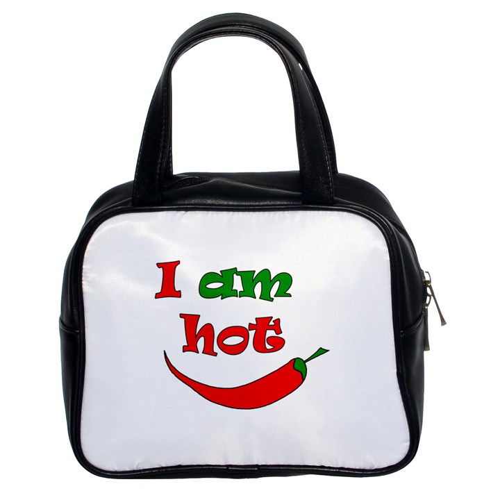 I am hot  Classic Handbags (2 Sides)