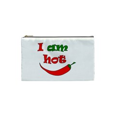 I Am Hot  Cosmetic Bag (small)  by Valentinaart