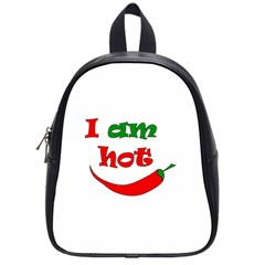 I Am Hot  School Bags (small)  by Valentinaart