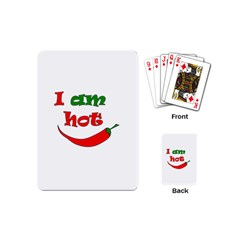 I Am Hot  Playing Cards (mini)  by Valentinaart