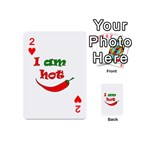 I am hot  Playing Cards 54 (Mini)  Front - Heart2