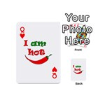 I am hot  Playing Cards 54 (Mini)  Front - HeartQ
