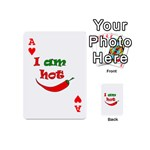 I am hot  Playing Cards 54 (Mini)  Front - HeartA
