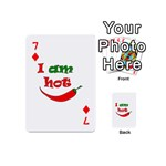 I am hot  Playing Cards 54 (Mini)  Front - Diamond7
