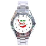 I am hot  Stainless Steel Analogue Watch Front