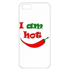 I Am Hot  Apple Iphone 5 Seamless Case (white) by Valentinaart