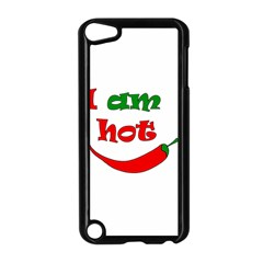 I Am Hot  Apple Ipod Touch 5 Case (black) by Valentinaart