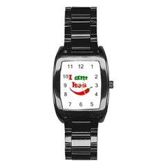I Am Hot  Stainless Steel Barrel Watch