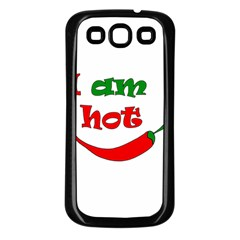 I Am Hot  Samsung Galaxy S3 Back Case (black)