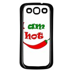 I am hot  Samsung Galaxy S3 Back Case (Black) Front