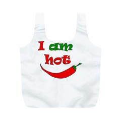 I Am Hot  Full Print Recycle Bags (m)  by Valentinaart