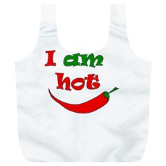 I Am Hot  Full Print Recycle Bags (l)  by Valentinaart