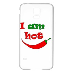 I Am Hot  Samsung Galaxy S5 Back Case (white) by Valentinaart