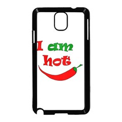 I Am Hot  Samsung Galaxy Note 3 Neo Hardshell Case (black) by Valentinaart