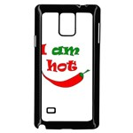 I am hot  Samsung Galaxy Note 4 Case (Black) Front