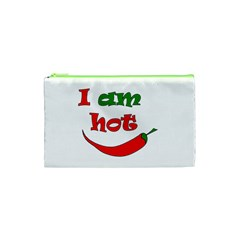 I Am Hot  Cosmetic Bag (xs) by Valentinaart