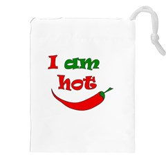 I Am Hot  Drawstring Pouches (xxl) by Valentinaart