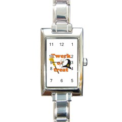 Twerk Or Treat   Funny Halloween Design Rectangle Italian Charm Watch by Valentinaart