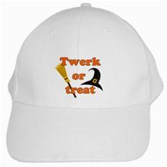 Twerk Or Treat   Funny Halloween Design White Cap