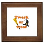 Twerk or treat - Funny Halloween design Framed Tiles