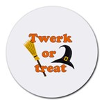 Twerk or treat - Funny Halloween design Round Mousepads
