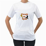 Twerk or treat - Funny Halloween design Women s T-Shirt (White) (Two Sided)