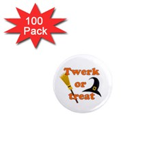 Twerk Or Treat   Funny Halloween Design 1  Mini Magnets (100 Pack)  by Valentinaart