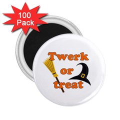 Twerk Or Treat   Funny Halloween Design 2 25  Magnets (100 Pack)  by Valentinaart