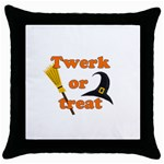 Twerk or treat - Funny Halloween design Throw Pillow Case (Black)