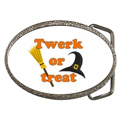 Twerk Or Treat   Funny Halloween Design Belt Buckles by Valentinaart