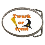 Twerk or treat - Funny Halloween design Belt Buckles