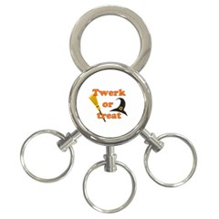 Twerk Or Treat   Funny Halloween Design 3 Ring Key Chains