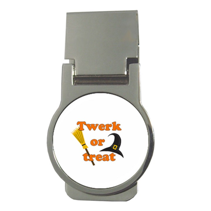 Twerk or treat - Funny Halloween design Money Clips (Round)