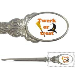 Twerk Or Treat   Funny Halloween Design Letter Openers by Valentinaart