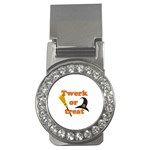 Twerk or treat - Funny Halloween design Money Clips (CZ)  Front