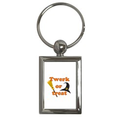 Twerk Or Treat   Funny Halloween Design Key Chains (rectangle)