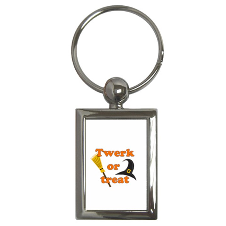 Twerk or treat - Funny Halloween design Key Chains (Rectangle)