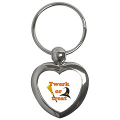 Twerk Or Treat   Funny Halloween Design Key Chains (heart)