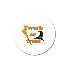 Twerk Or Treat   Funny Halloween Design Magnet 3  (round) by Valentinaart