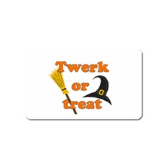 Twerk Or Treat   Funny Halloween Design Magnet (name Card) by Valentinaart