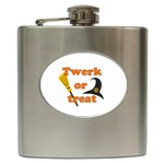 Twerk or treat - Funny Halloween design Hip Flask (6 oz)